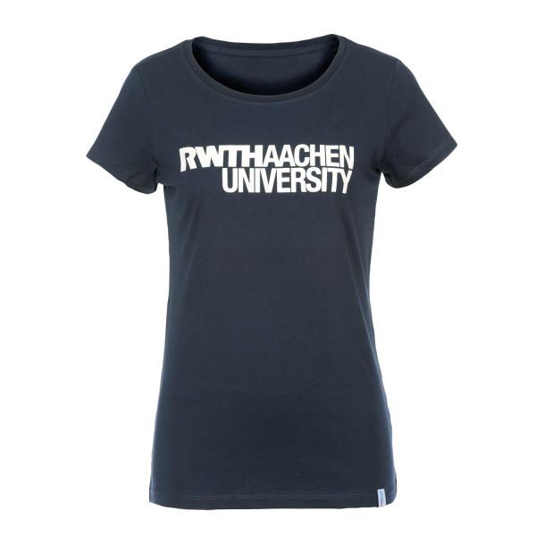 Damen T-Shirt navy mit RWTH Logo