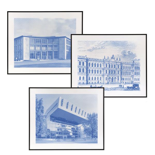 Siebdrucke Hauptgebäude,Audimax,Super C