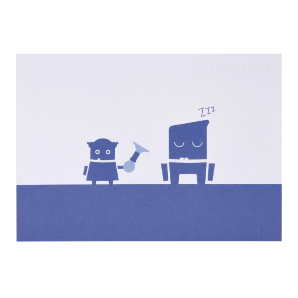 RWTH Postkarte mit zwei Robotern
