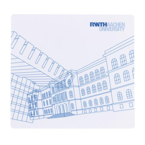 RWTH Displaytuch mit Gebäudeillu 1