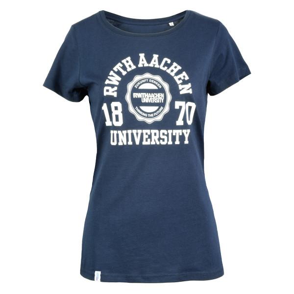 Damen T-Shirt Premium Marshall navy