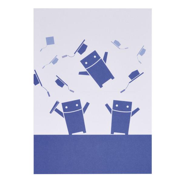 RWTH Postkarte Roboter feiern