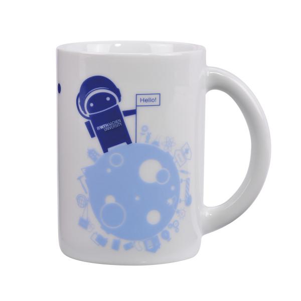 Tasse mit Astronauten Roboter
