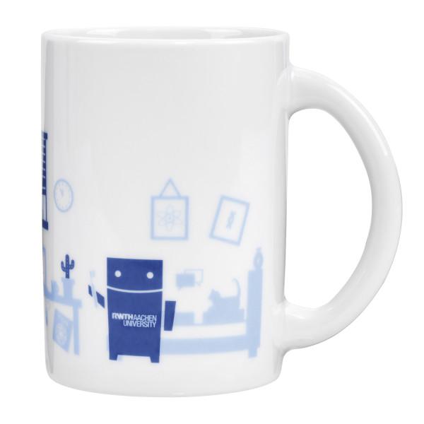 Tasse mit Roboter im Studizimmer 1