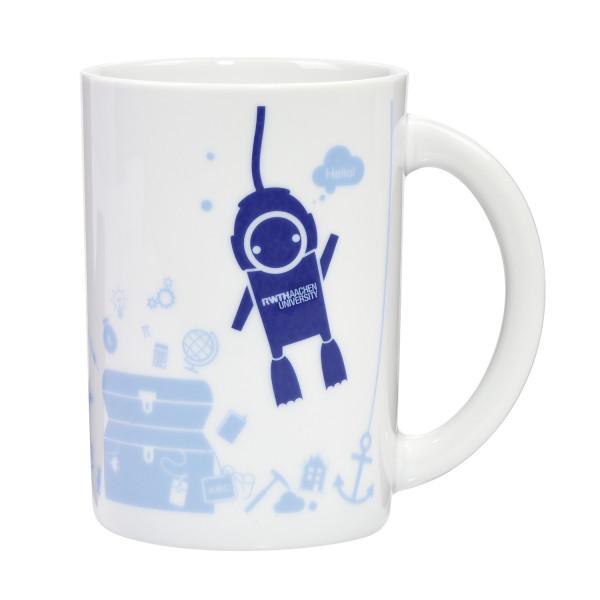 Tasse mit Taucherroboter