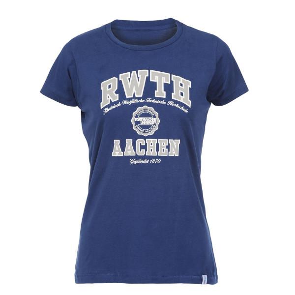 Damen T-Shirt Premium Texas navy