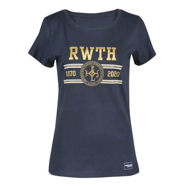Damen T-Shirt Premium Anniversary navy