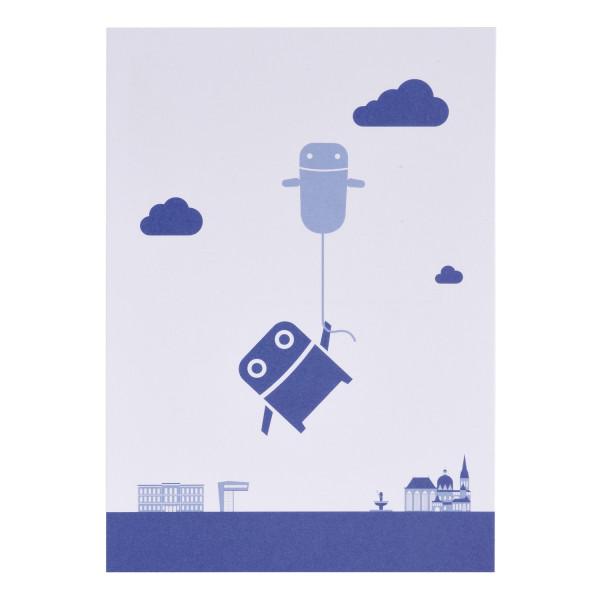 RWTH Postkarte Roboter mit Luftballon