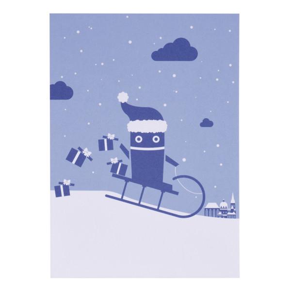 RWTH Postkarte Roboter mit Schlitten
